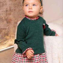 Rochita bebe verde cu model Basmarti