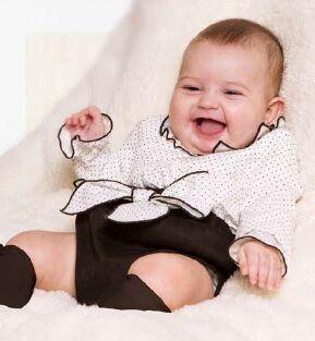 Compleu bebe alb -negru Basmarti