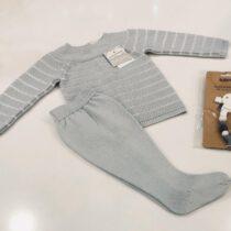 Compleu gri din tricot Guti-baby