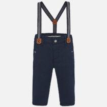 Pantaloni chino lungi bretele slim fit bleumarin Mayoral