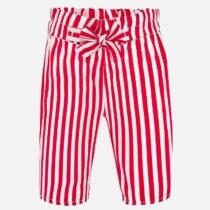 Pantaloni lungi roșii în dungi cu fundiță Mayoral