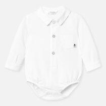 Body alb guler tip cămașă Mayoral