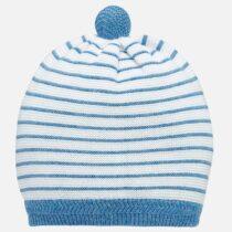Caciulă pompon bebe albastră Mayoral