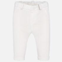 Pantaloni eleganți ivory bebe băiat Mayoral