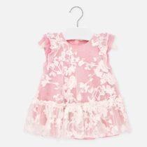 Rochie roz cu broderie albă Mayoral