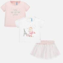 Set tricou și fustă tul roz Mayoral