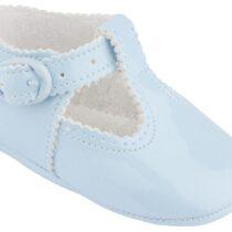 Papucei luciosi albastru deschis Cuquito
