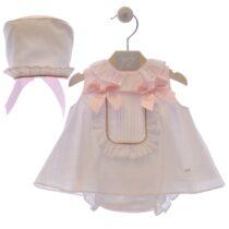 Costumaș fetiță alb/roz – Flor