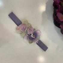 Bentiță cu flori mov