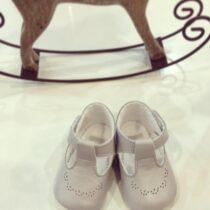 Pantofiori cu model gri Cuquito
