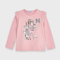 Bluză mânecă lungă desen păpusi fetiță Mayoral