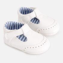 Pantofi albi detalii bebe băiat Mayoral
