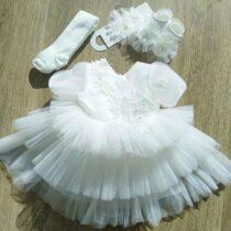 Set pentru botez Ivory-white
