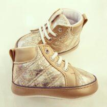 Sneakers maro lucioși