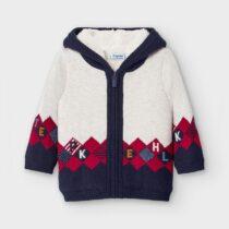 Jachetă tricot căptușită romburi bebe băiat Mayoral
