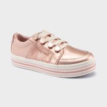 Pantofi sport roz cu platformă Mayoral