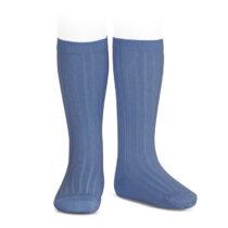 Șosete înalte cu dungi albastru FRAN Condor
