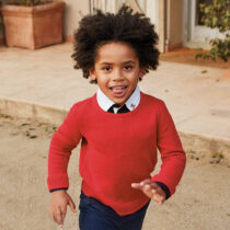 Pulover roșu basic băiat, mayoral