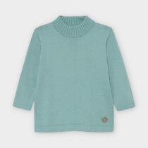 Bluză verde mentă din tricot guler înalt basic bebe fetiță Mayoral