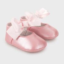 Balerini nou-născut ,roz cu fundă Mayoral