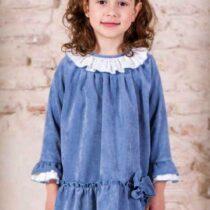Rochie albastră din catifea, Basmarti