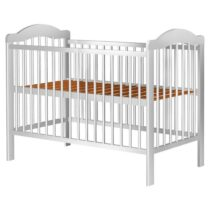 Pătuț copii din lemn Hubners Lizett 120×60 cm alb