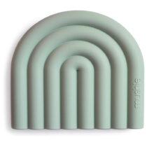 Jucarie dentiție Mushie rainbow cambridge blue