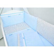 Set 3 piese lenjerie de pat+protecție sweet blue