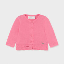 Cardigan lung roz din tricot, Mayoral