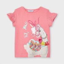 Tricou Ecofriends serigrafie fetita roz lamă, Mayoral