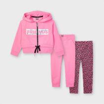 Trening roz cu 2 perechi de pantaloni fetiță Mayoral