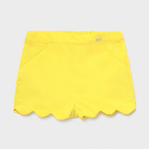 Pantaloni scurți Ecofriends galbeni fetiță Mayoral