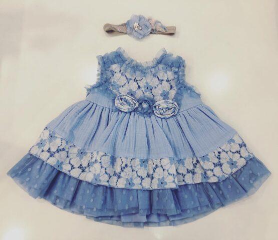 Rochiță albastră cu flori, Miranda Textil