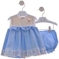 Rochiță albastru-crem cu chiloțel Cromos