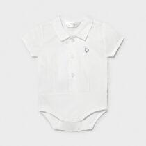 Body tip cămașă alb nou-născut băiat Mayoral