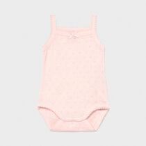 Body roz cu bretele clasic bebe fetiță Mayoral