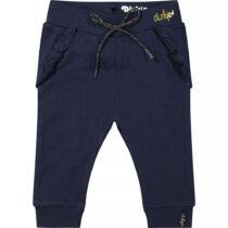 Pantaloni bleumarin fetiță din bumbac organic