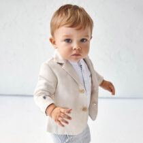 Jachetă in elegantă bebe băiat crem Mayoral