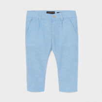 Pantaloni lungi in eleganți bebe băiat albastru deschis Mayoral
