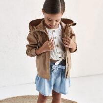 Pantaloni scurți denim Ecofriends fetiță Mayoral