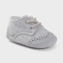 Pantofi gri combinați nou-născut băiat Mayoral