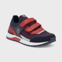Pantofi sport tricot băiat bleumarin-roșu Mayoral