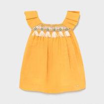 Rochie din in galbenă, Mayoral