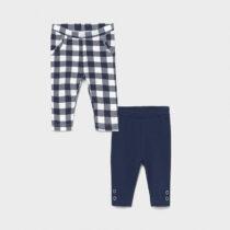 Set 2 leggings bleumarin în carouri, Mayoral