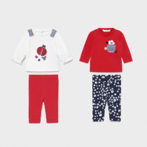 Set 4 piese navy new born fetițe Mayoral