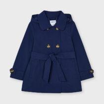 Jachetă bleumarin tip trench cu glugă, Mayoral