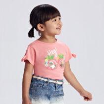 Tricou roz Ecofriends aplicație fetițe Mayoral