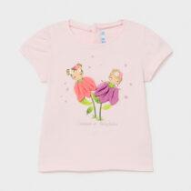 Tricou roz Ecofriends cu flori, Mayoral