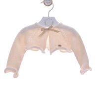 Cardigan ivory din tricot fetițe REBECA