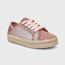 Pantofi roz cu platformă iută fetițe Mayoral